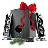 Cyber Acoustics CA-3602FFP 2.1 Speaker Sound System with Subwoofer and...