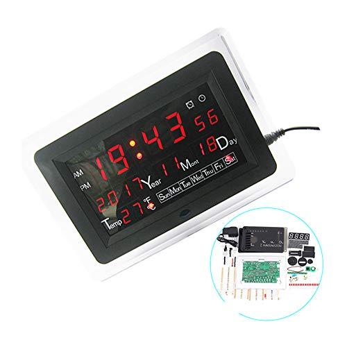 ECL-1227 0,5 Zoll Rot Grün Blau DIY Elektronische Uhr DIY Kit Kalender Temperatur Englisch Panel Display DIY Elektronische Uhr, Blau