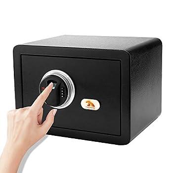 TIGERKING Digital Safe Security Fingerprint Safe with Keypad - Black