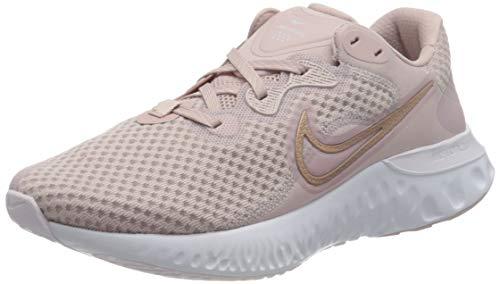Nike Damen Renew Run 2 Running Shoe, Champagne/Metallic Red Bronze-Light Violet-White, 38.5 EU