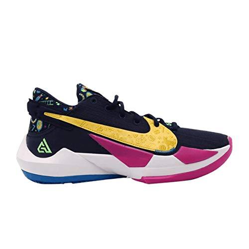 Nike Scarpe Uomo Zoom Freak 2 Midnight Navy DB4689-400, (Midnight Navy/Rosa Fuoco/Bianco/Verde veleno), 46 EU