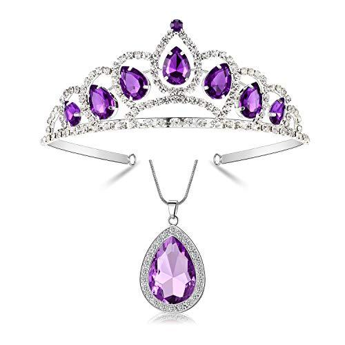 Kzslive - Juego de joyas para disfraz de princesa Sofía, diseño de tiara de princesa Sofía