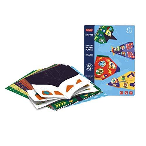 Suszian Origami Paper, Kids 3D Multicolor Paper Airplane Planes Fold Toys Kindergarten Handicraft Aircraft Toys Children DIY Gifts, Decoration Handcrafts Paper