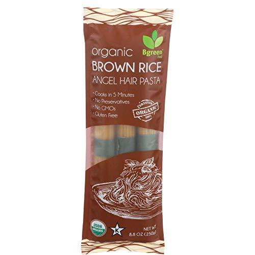 Big Green Organic Food- Organic Brown Rice Angel Hair Pasta, 8.8oz, Gluten-Free, Non-GMO (1)