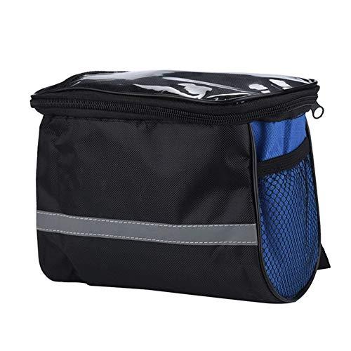 GYYY Bag Cycling Bicycle Top Frame Front Saddle Tube Bag Bike Pouch Holder MTB Bag Front Frame Trunk Bike Accessories (Color : Blue)