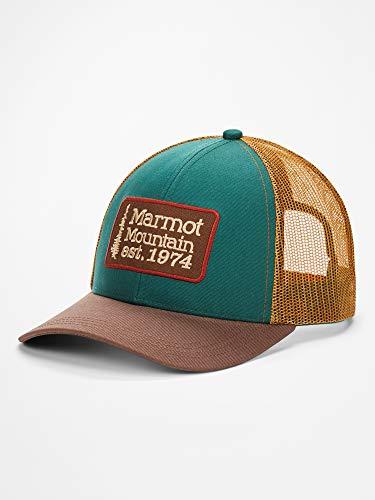 Marmot Herren Retro Trucker Hat Baseballcap, Kappe Mit Uv-Schutz, Verstellbar, Für Outdoor, Sport Und Reisen, Botanical Garden/Scotch, ONE