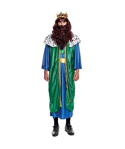 H HANSEL HOME Disfraz Rey Mago Gaspar Adulto - Hombre Vestido para Cosplay/Navidad...