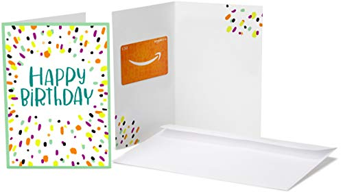 Amazon.co.uk Gift Card  - In a  Greeting Card - £50 (Birthday Confetti )