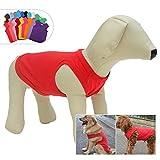 longlongpet 2019 - Disfraz de Perro, Camiseta para Perros Grandes y medianos, 100% algodón, Chaleco clásico para Cachorros y Perros, 18 Colores