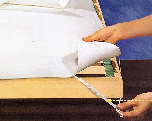 Set 2 Coprirete in Feltro singoli Italia OFFERTA Salva Rete Salva Materasso - Bianco -2 Pezzi 80x190 cm