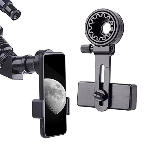 Soporte universal para teléfono celular, soporte para teléfono móvil, compatible con telescopio, microscopio, telescopio, telescopio, monocular, soporte de clip para teléfonos principales