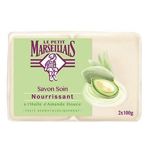 Le Petit Marseillais Savon Solide Nourrissant Amande Douce - Action Antibactérienne - 2x100g