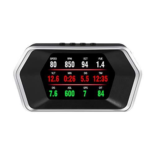 ASDFA Pantalla frontal para coche OBD2 y sistemas GPS Smart Digital Meter HUD Head Up Display Trabajo para todos los coches