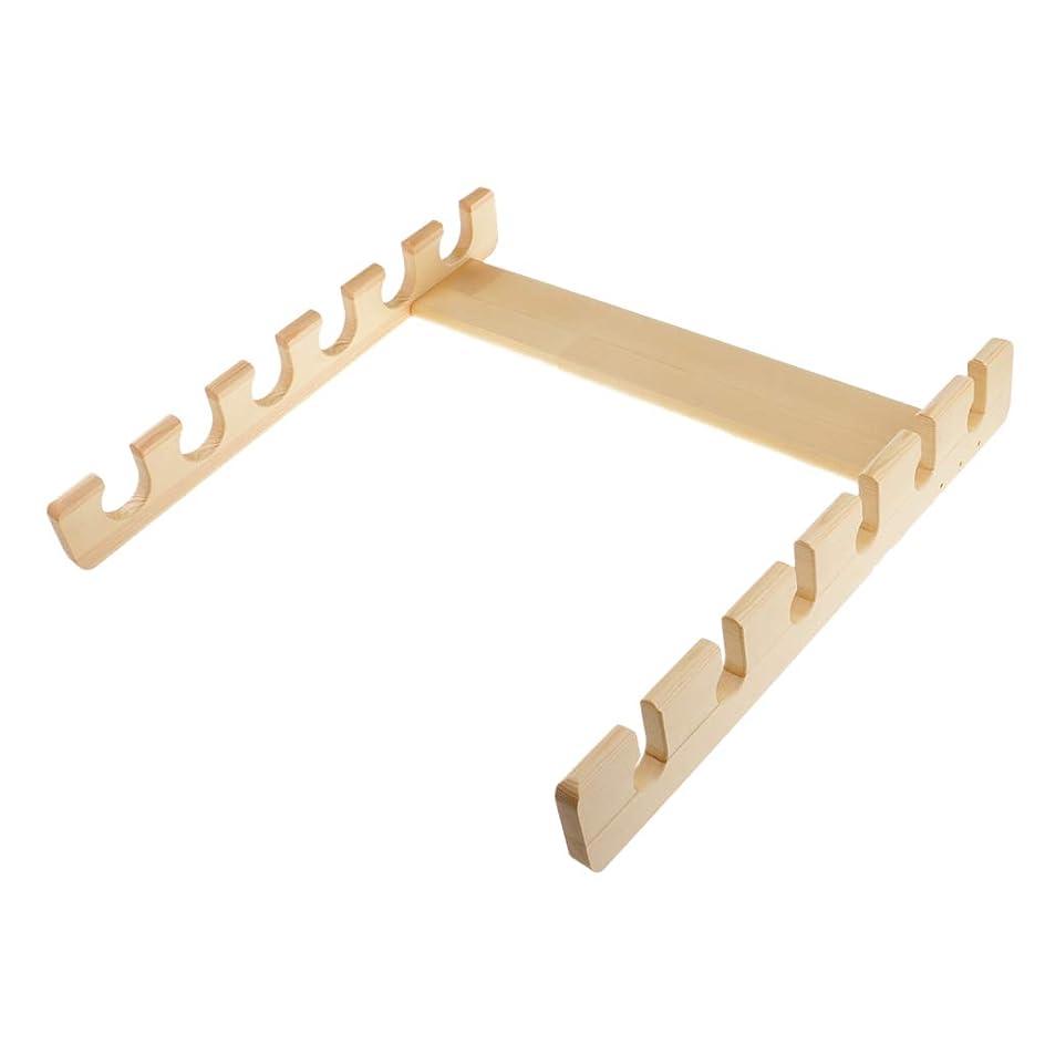 人事欠席弾薬T TOOYFUL ロッドスタンド 竿立て 木製タイプ 釣竿を6本収納 竿掛け 省スペース 取り付けが簡単