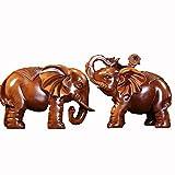 HongLianRiven maniquíes El Elefante Decora un par de Decoraciones Lucky Craft, Usado en la Entrada de la Sala de Estar, televisión, Armario for vinos, decoración estantería (Color : Brass)