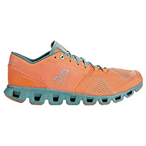 ON Running Mens Cloud X Textile Synthetic Orange Sea Trainers 8 US
