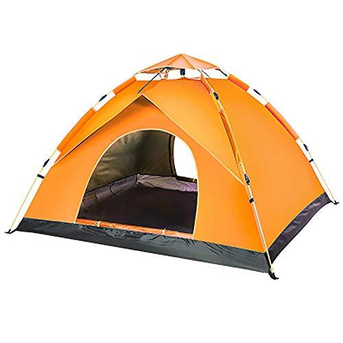 Tentes imperméables pour 2 personnes, tente de plage orange pour 4 personnes avec sac de rangement, tente dôme avec coussin anti-humidité