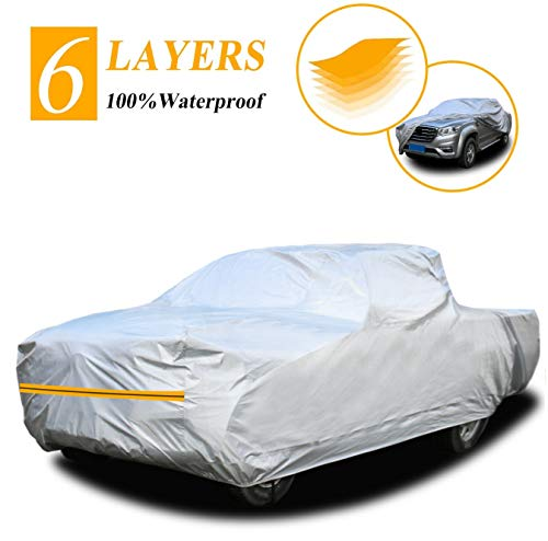 "Autsop Truck Cover, 6 Layers Truck Cover Waterproof All Weather,Outdoor Dust UV Hail Snow Protection Pickup Cover,Universal PK-L (Fit 216""to 228"")"