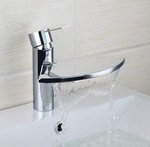 ZLININ Y-longhair grifo de latón cromado grifo del fregadero baño cascada caño cubierta montaje individual