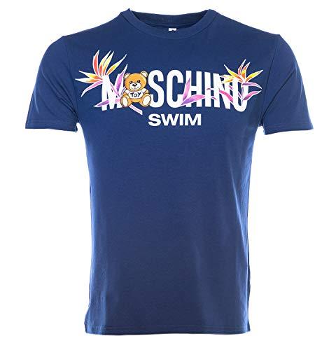Moschino Swim Palm Teddy T Shirt in Navy (XS)