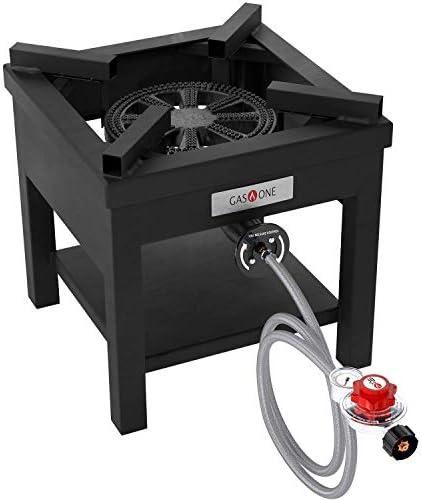 GasOne B 5350 270 000 BTU Rugged Propane Burner Cooker With 0 30 PSI Regulator with Pressure product image