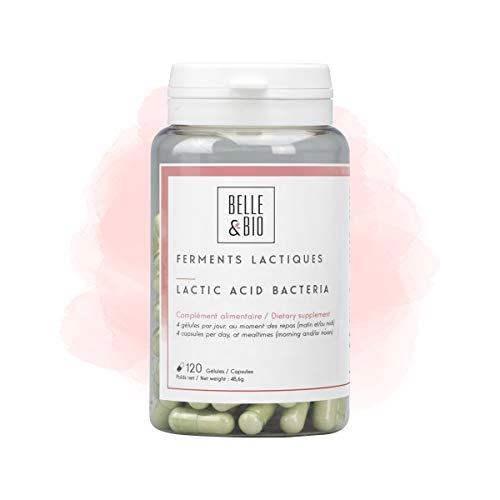 Belle&Bio - Ferments Lactiques - 120 gélules - Digestion - 10 souches de bactéries lactiques - Fabriqué en France