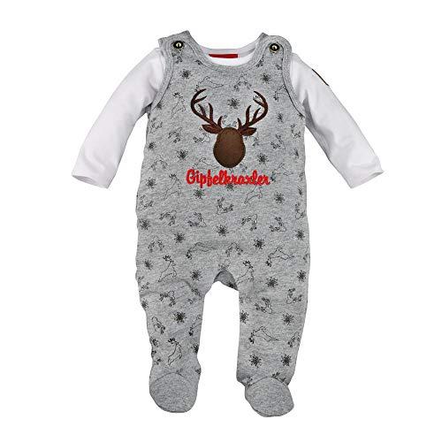 BONDI Strampler ´Hirsch´, Grey-Melange 62 Tracht Baby Jungs Artikel-Nr.91207