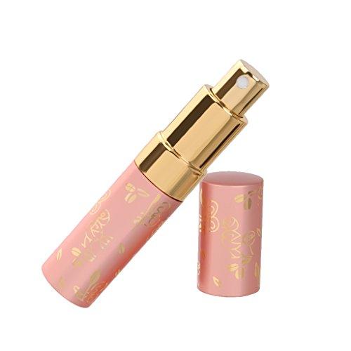 15 Ml Botella De Perfume Del Atomizador Del Recorrido Para Después Del Afeitado Bomba De Aspersión Recargables De Color Rosa