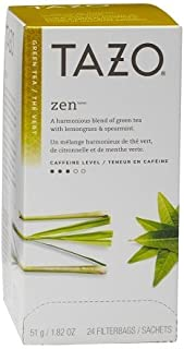 Tazo Zen Filter Bag Tea, 24-Count Packages (Pack of 3)