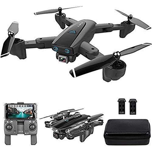 MRSDBTL GPS Drone, 2.4G WiFi FPV RC Drone con cámara 4K HD Fotos de Gestos Video, Regreso automático a casa, Retención de altitud, Sígueme RC Quadcopter para Adultos con Bolso,2 Batteries