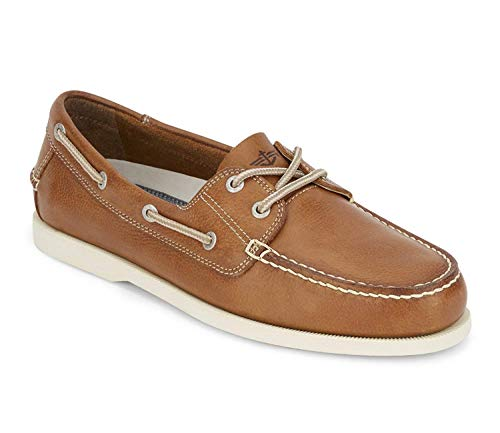 Dockers Mens Vargas Leather Casual Classic Boat Shoe, Dark Tan/White, 11 M