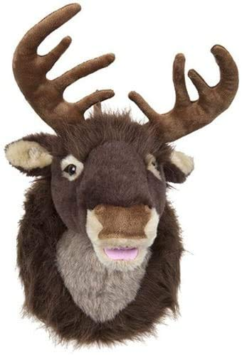 Toyland 50cm Plush Reindeer Head Wall Christmas Decoration With Motion Activated Singing