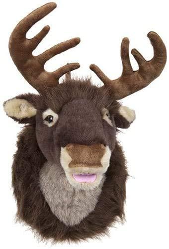 Toyland - Decorazione natalizia con testa di renna in peluche, 50 cm