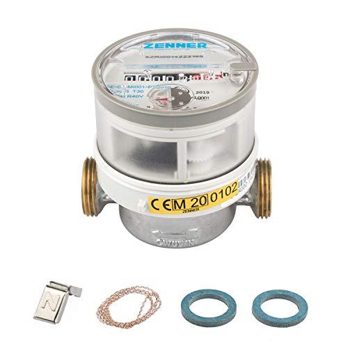 Zenner 145225 Wasserzähler ETKD für Kaltwasser Baulänge 80 mm, 1/2