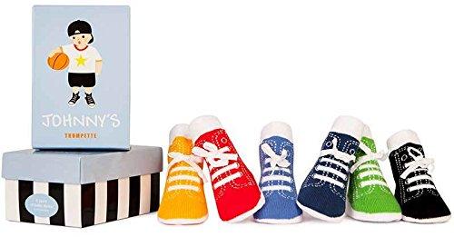 Trumpette Socken Johnnys 6er-Pack für Kleinkinder,Toddler 1-2 Jahren, 12-24 Monate