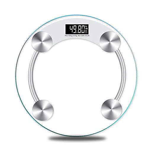 YUXIA Body Fat Scala, Vetro temperato retroilluminazione del Display Bilancia Electroni Corpo Digitale, 180KG Step-On istantaneo Lettura di Peso, Grande Facile Leggere Display LCD
