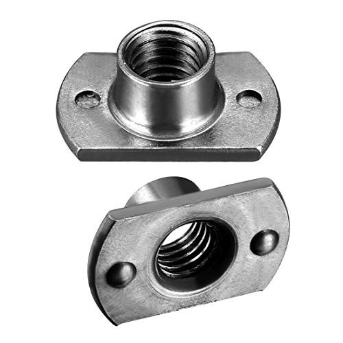 uxcell Weld Nuts, M8 Tab Base UNC Carbon Steel Machine Screw 2 Projection Grey 25Pcs