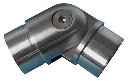 Gelenkverbinder 90°-180° für 42,4 x 2mm Rohr Handlauf Geländer Fitting universal Gelenk Verbinder