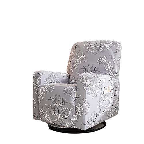 Funda elástica para silla reclinable con bolsillo lateral, funda protectora para sillones, lavable a máquina (gris)