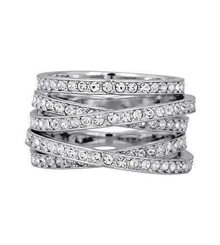 Swarovski rodio tamaño 6 anillo espiral 1156304