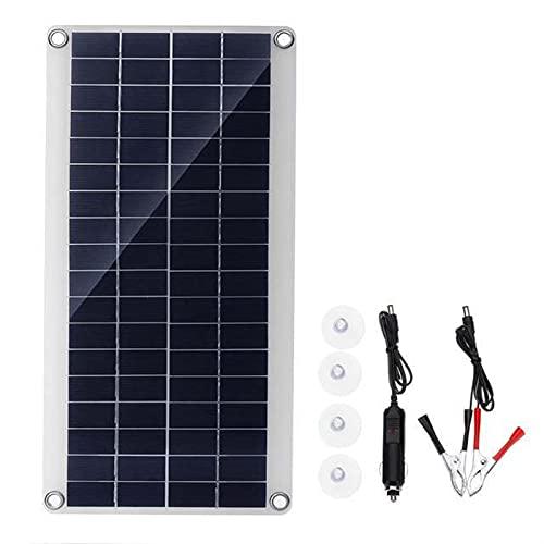 Panel Solar Dual De 300W, Cargador De Batería De Emergencia para Exteriores, 12/5V CC, USB, Impermeable, Portátil, De Carga Rápida, para Coche, Yate, RV (Color : Solar Panel)