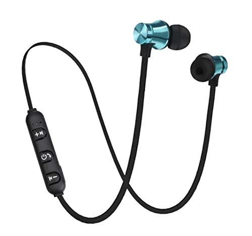 Wiederaufladbare Bluetooth-Kopfhörer, kabellos, magnetisch, universal, für Handys, Tablets, Smart-TVs, MP4, Fitnessstudio, Workout blaumetallic
