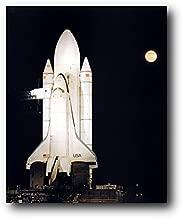 Wall Decor Picture - NASA Space Shuttle Night Moon Astronaut Rocket Educational Art Print Poster (16x20)