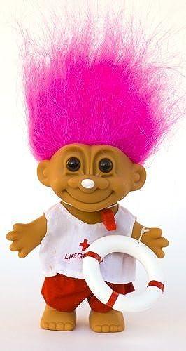 My Lucky LIFEGUARD Troll Doll (rose Hair) by Russ Berrie