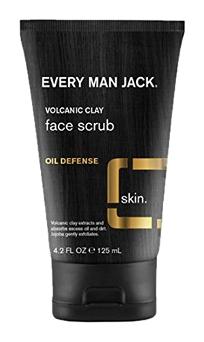 Every Man Jack Volcanic Clay Face Scrub, Oil Defense, Fragrance Free, 4.2-ounce