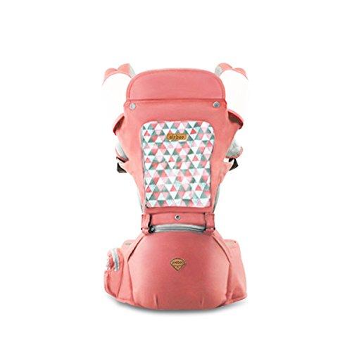 SONARIN Sonnenschutz Hipseat Baby Carrier,Babytrage, Atmungsaktiv, Aufbewahrungstaschen,Einfach zu tragen und Enfach Mom,100% GARANTIE und KOSTENLOSE LIEFERUNG, Ideal Geschenk(Rosa)