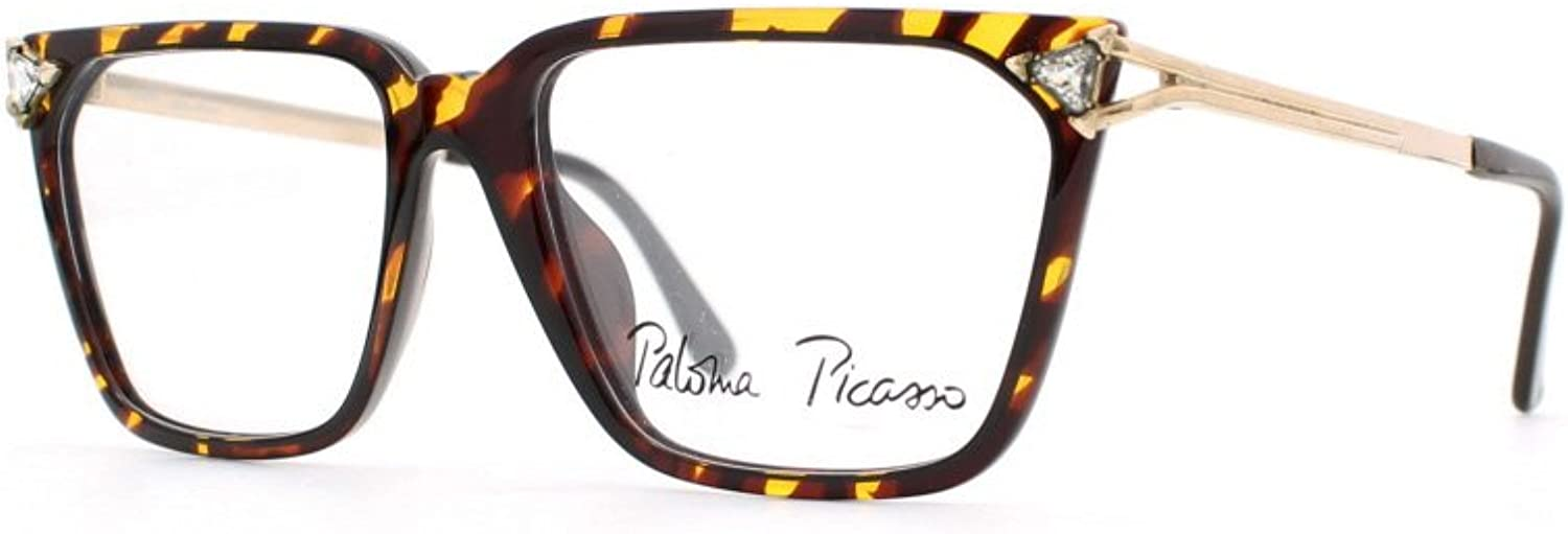 Paloma Picasso 3752 10 Brown and gold Authentic Women Vintage Eyeglasses Frame
