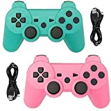 Tidoom PS3 Controller 2 Pack Wireless Bluetooth 6-Axis...