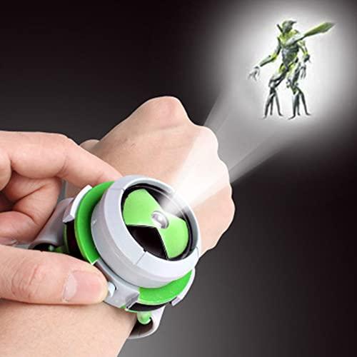 Proiettore Sveglia Per Bambini Proiettore Orologio Modello Cartone Animato Orologi Digitali Figure Di Azione Stile Immagini Regalo Giocattolo Verde