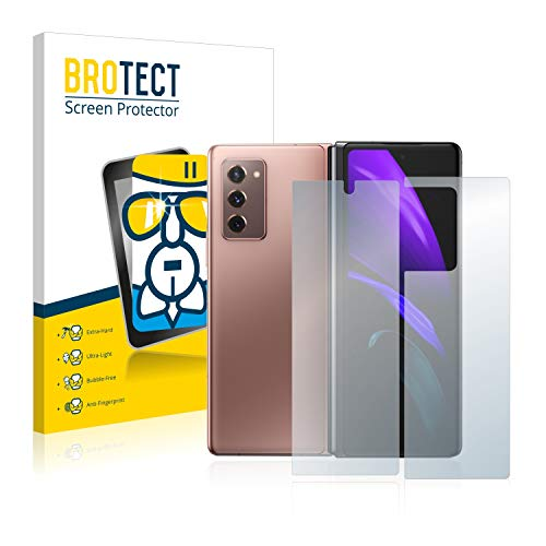 BROTECT Panzerglas Schutzfolie kompatibel mit Samsung Galaxy Z Fold 2 5G (Vorder + Rückseite) - AirGlass, extrem Kratzfest, Anti-Fingerprint